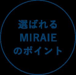 選ばれるMIRAIEのポイント